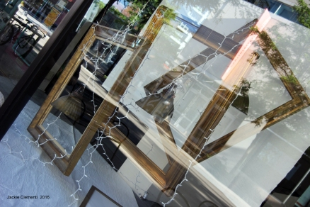 Window display at the frame shop