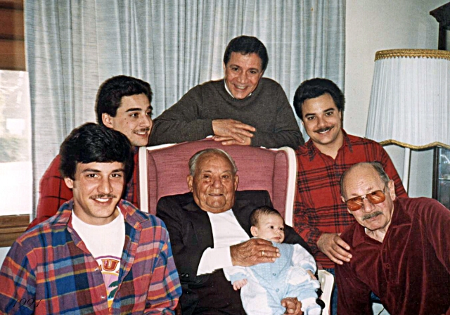family of boys with vince 3 mos 1991